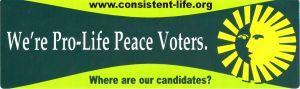 Pro-Life Pro-Peace Voters